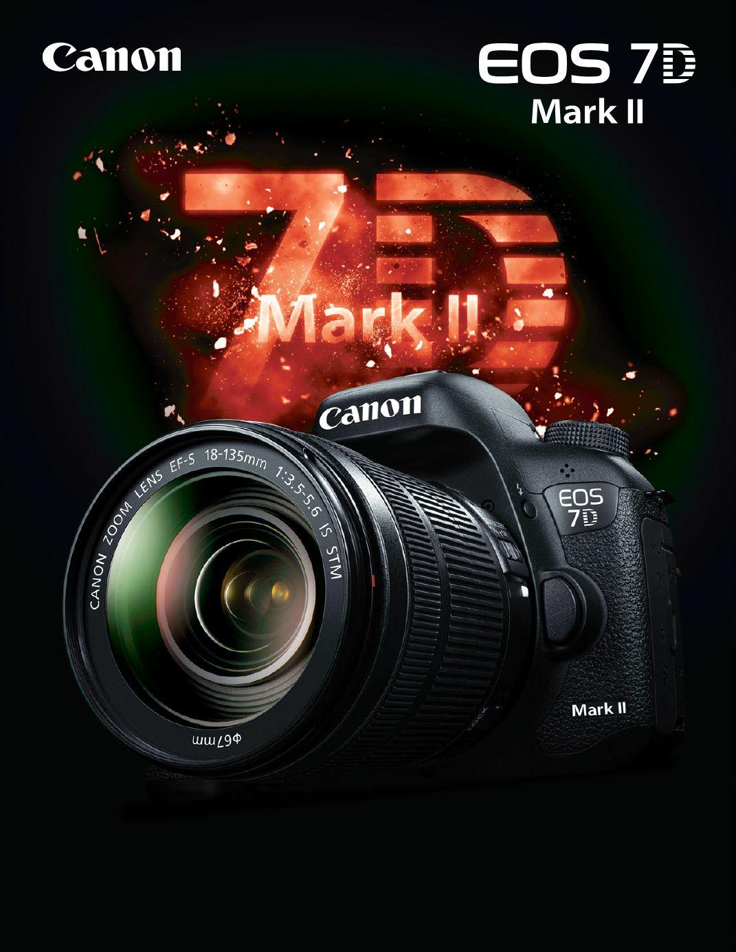 Plakat z premiery Canona 7D Mark II