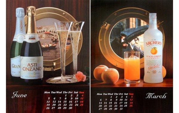 Projekt i wykonanie kalendarza reklamowego, A2