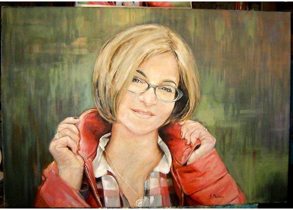 Portret w technice olejnej na zamówienie 50x40 cm
