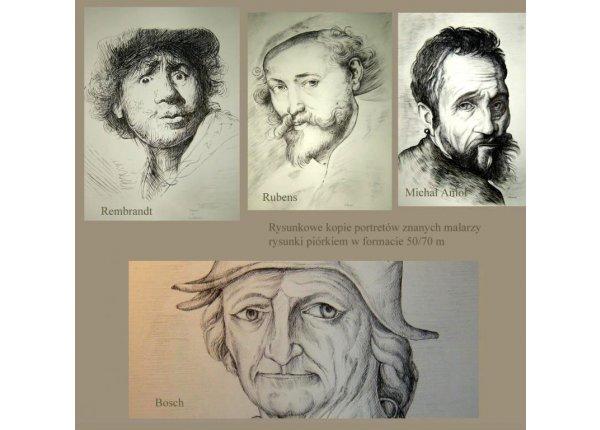 Portrety rysunkowe na zamówienie, format A3