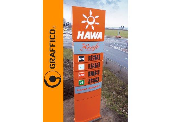 Pylon cenowy dla stacji paliw, 5m - GRAFFICO