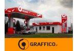 Oznakowanie reklamowe stacji paliw - GRAFFICO