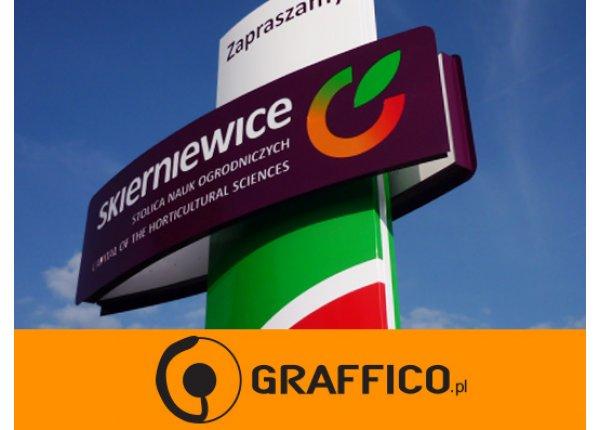 Witacz dla miasta, pylon, reklama wolnostojąca - GRAFFICO