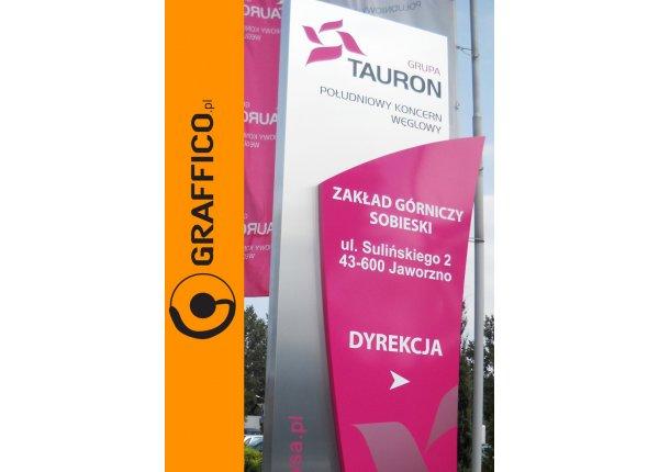 Pylon reklamowy, reklama wolnostojąca - GRAFFICO
