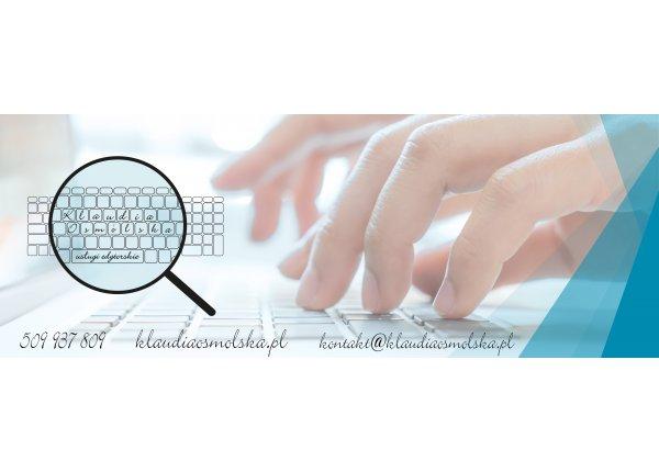 Redagowanie i korekta dowolnych tekstów