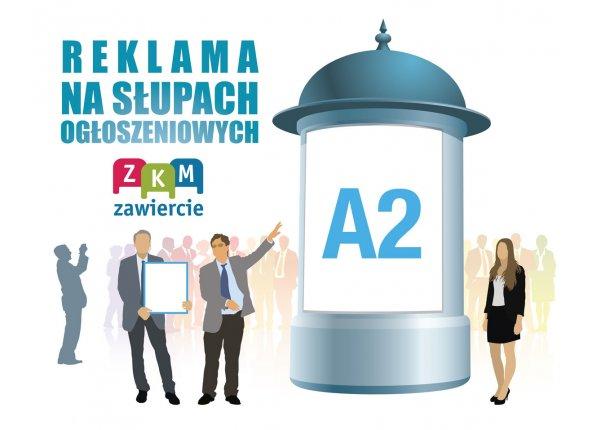 Reklama na słupach ogłoszeniowych - A2
