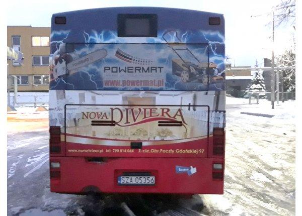 Fullback - Reklama na autobusach - Zawiercie