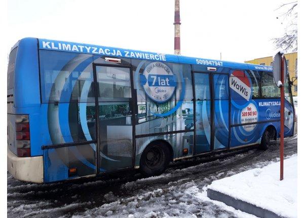 Reklama - cały prawy bok autobusu - ZKM Zawiercie