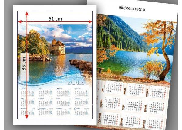 Kalendarz ścienny A2, druk - nakład 100 sztuk
