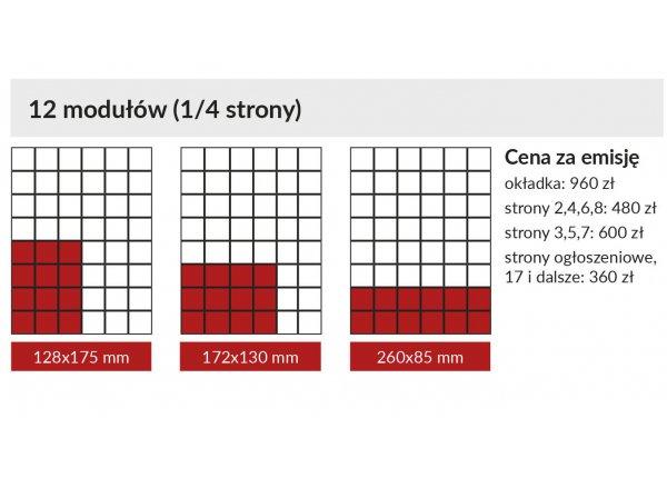 Reklama - 1/4 strony w GAZECIE MIEJSKIEJ - Łódź