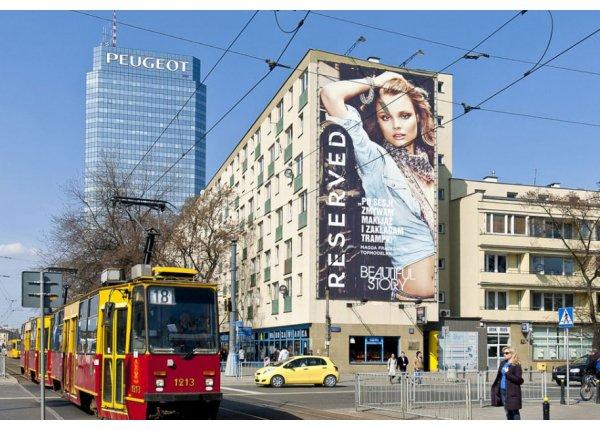 Reklama na budynku - 120 m2 - Warszawa Centrum
