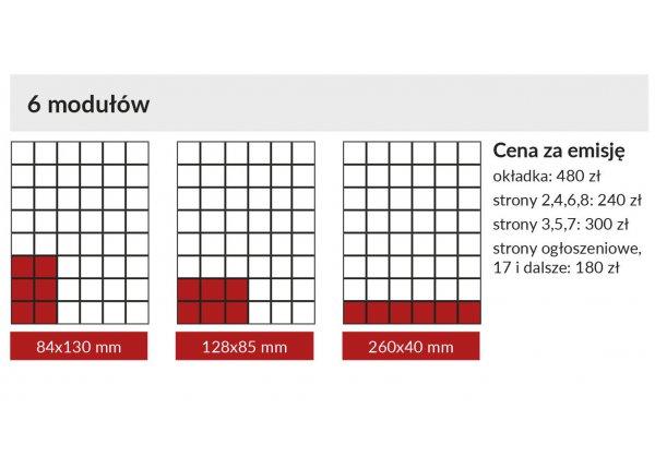GAZETA MIEJSKA - Łódź - Reklama 6 modułów